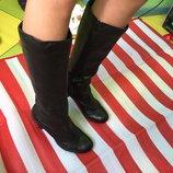 Шикарные и удобные кожаные сапоги сlarks software /25 см/кожа 38 р-р