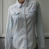 Рубашка джинсовая варенка, длинный рукав - подворачивается