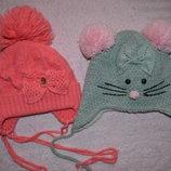 зимние шапки на 2-4г.