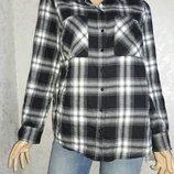 Рубашка теплая в клетку new look размер 14