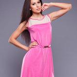 Летнее розовое платье, размер 44-46-48