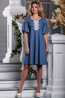 d3c604b4e85e917 Летнее Платье с льняным кружевом белого цвета 44-50р: 510 грн ...