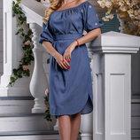 Модное летнее платье с легким струящимся эффектом 44-50р