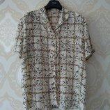 Размер 20 Красивая фирменная летняя блузка блуза рубашка