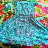 Шифоновое платье сарафан летний на подкладке