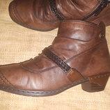 39р-25 см на шерсти Rieker ботинки кожа