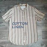 Легкая , классная натуральный материал рубашка