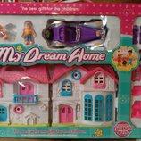 Домик для кукол с машиной и мебелью 53см