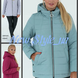 48-58 Женская куртка с капюшоном. Женская куртка, куртка жіноча демісезонна. большие размеры.