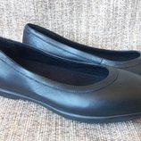 туфли-балетки Crocs Grace Flat. натуральная кожа. р.5, 6,
