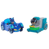 Just Play PJ Masks Герои в масках Кэтбой и Ромео на машинах Nighttime Adventures Cat-Car and Romeo's