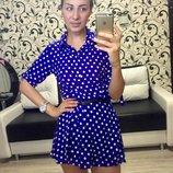 Платье -рубашка, штапель
