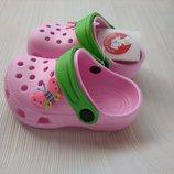 Кроксы детские аналог Crocs розовые
