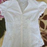 Блузка белая рубашка