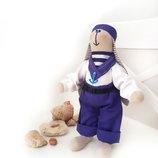 Зайка Моряк матрос морской стиль морская вечеринка море заяц игрушка подарок оригинальный