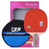 Ракетка для настольного тенниса 729 2060 набор для настольного тенниса ракетка чехол 2 мячика