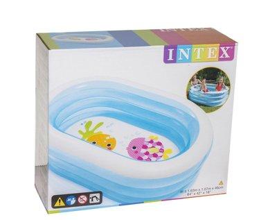 Надувной бассейн Овальный Интекс 57482 Детский бассейн