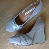 Кожаные туфли 36, 37, 39, 40р. Other Stories золотая пудра, креативный дизайн