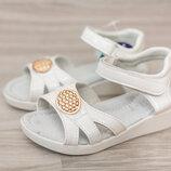 Босоножки р.31-34, лето для девочек, сандалии белые, обувка