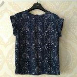 Размер 8-10 Красивая фирменная шифоновая блузка блуза