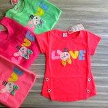 нарядные футболки для девочки Love зайчик