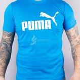Футболка мужская Puma бирюзовая хлопковая