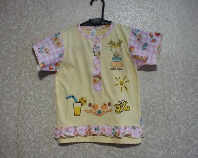 DOREMI Турция платье футболка Детская желто-розовая, хлопок 100%, Дореми, качественный