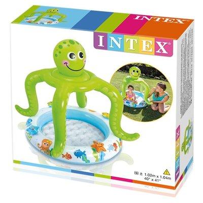 Детский бассейн с навесом Intex Осьминог 57115 Тент интекс