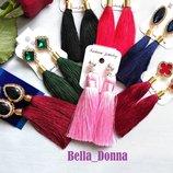 Серьги-Кисти серёжки-кисточки большой выбор разные цвета выпускной