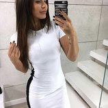 Новинка Спортивное мини-платье 5 вариаций цвета от р40 по р46