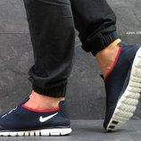 Nike Free ran 3.0 кроссовки темно синие с белым 5400