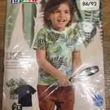 Набор хлопковых футболок на мальчика Lupilu Германия