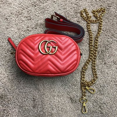 163707065478 Сумка Gucci Belt Bag GG Marmont Red: 1000 грн - клатчи и маленькие ...