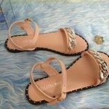 Стильные босоножки сандалии цепочка 36-41рр, Польша. цвет пудра