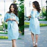 рубашка платье лен