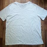 Мужская белая футболка с V образным вырезом размер 3XL, 25-24 Ю