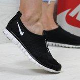 Кроссовки низкие сетка Nike Free Run 3.0 black/white