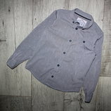 Рубашка нарядная стильная светло серая мелкий узор Boys 6 лет, рост 116 см.