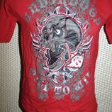 Стильная фирменная спортивная катоновая футболка бренд Tapout Тапаут .6-8 лет .