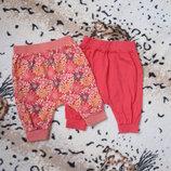 Комплектом трикотажные штанишки с матней для девочки на 3-6-9 мес 100 грн 2 шт