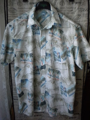 Мужская летняя рубашка-гавайка COLLIN S. Размер L.