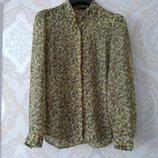 Размер 10 Нежная фирменная шифоновая блузка Next