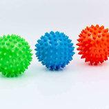 Мячик массажный резиновый с пупырышками 5653-7 диаметр 7см, вес 40г