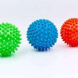 Мячик массажный резиновый с пупырышками 5653-9 диаметр 9см, вес 60г