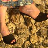 Шикарные шлепки из натуральной кожи замши на каблуке Производитель Украина