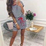 классное летнее платье полоска