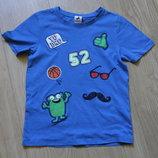 Яркая футболка с нашивками Palomino на 6-8 лет