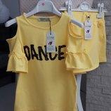 В наличии Комплект футболочка и юбка- шорты