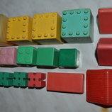 Яркие Кубики из различных Конструкторов Ссср из мягкого прочного Пластика 17 дет