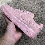 Женские кроссовки Найк Nike Air Force 1 Pink Suede